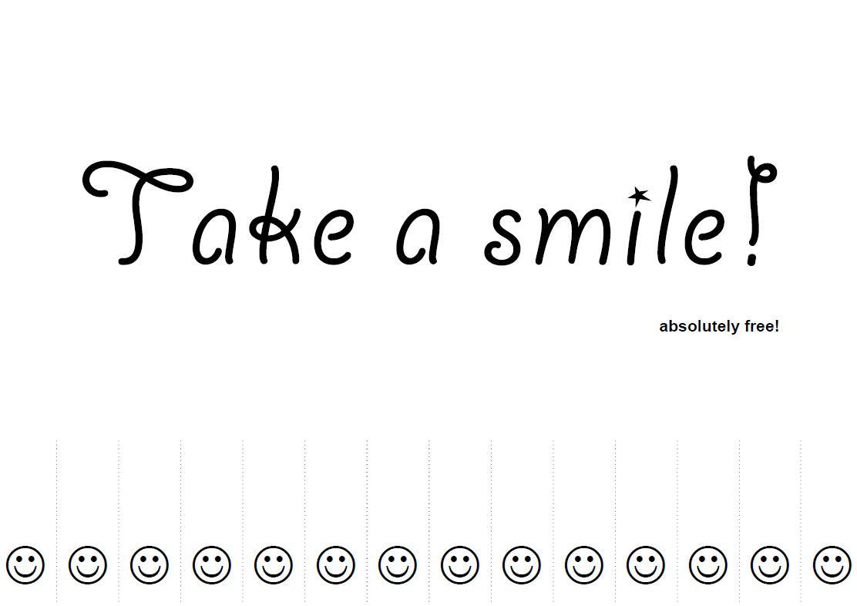 Druckvorlage Take a Smile