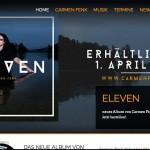 Kundenprojekt: Webseite von Carmen Fenk